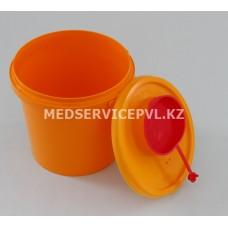Емкость-контейнер для сбора острого инструментария, Б 0,5 л желтая