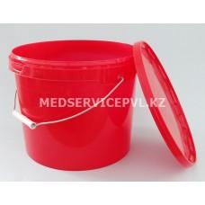 Емкость-контейнер для сбора отходов, В цвет красный 10 л